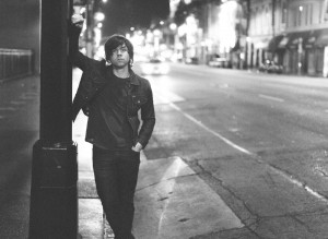 Ryan Adams' James Dean Lean as he waits for the bus